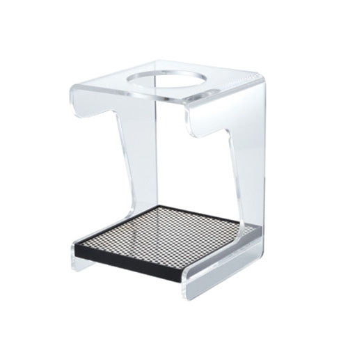 HARIO V60 CLEAR ACRYLIC STAND WITH STAINLESS STEEL DRIP TRAY